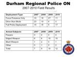 durham regional police on 2007 2010 field results1