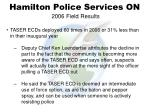 hamilton police services on 2006 field results