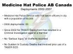 medicine hat police ab canada deployments 2002 2007