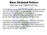 new zealand police 2007 one year taser ecd trial1