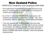 new zealand police taser ecd complaints and compliance 2008 2009