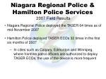 niagara regional police hamilton police services 2007 field results