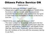 ottawa police service on deployments