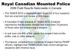 royal canadian mounted police 2006 field results nationwide in canada