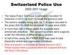 switzerland police use