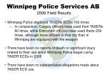 winnipeg police services ab 2006 field results