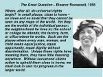 the great question eleanor roosevelt 1958