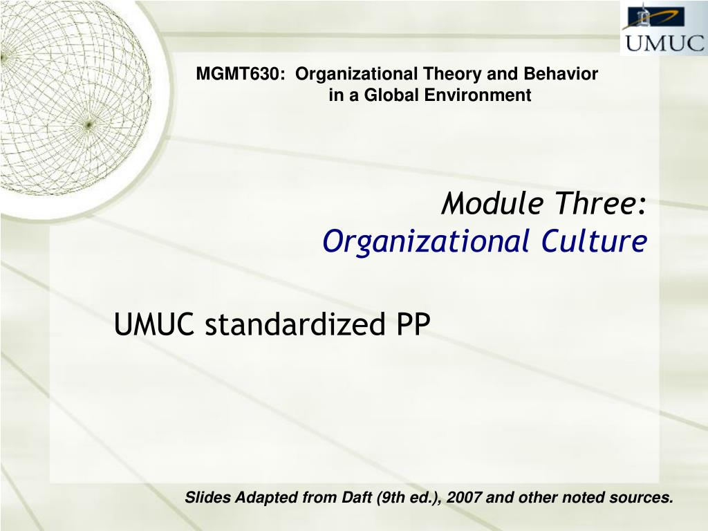 Ppt Module Three Organizational Culture Powerpoint Presentation Free Download Id 1410943