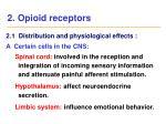 2 opioid receptors2