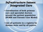 infrastructure issues integrated care