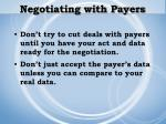 negotiating with payers