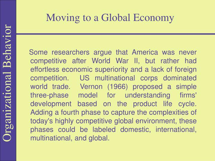 moving to a global economy n.