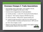 overseas changes i trade associations