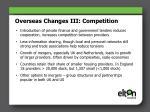 overseas changes iii competition