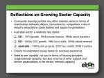 reflections on growing sector capacity