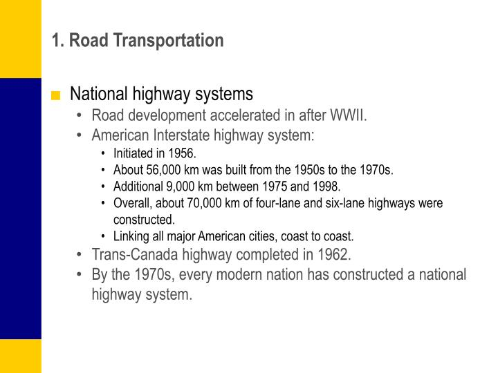 1. Road Transportation