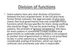 division of functions