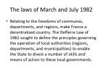 the laws of march and july 1982