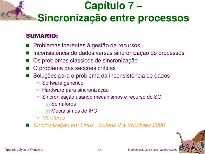 cap tulo 7 sincroniza o entre processos n.