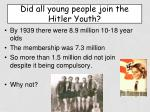 did all young people join the hitler youth