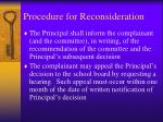 procedure for reconsideration4