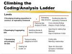climbing the coding analysis ladder