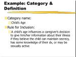 example category definition