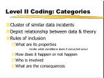 level ii coding categories