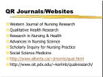 qr journals websites