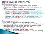 reflexive or intensive