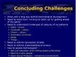 concluding challenges