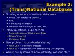 example 2 trans national databases