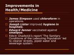 improvements in health medicine