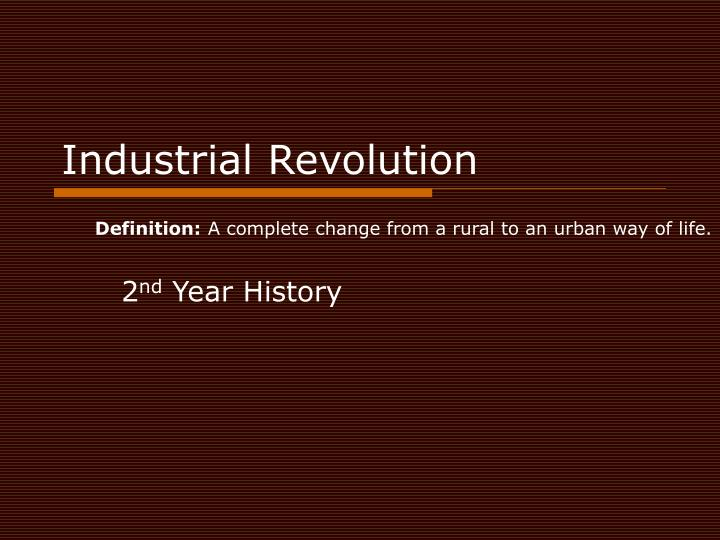 industrial revolution n.