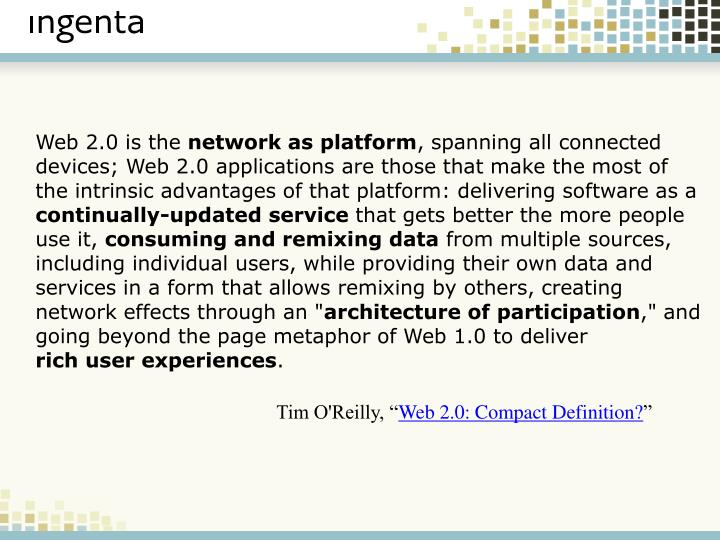 Web 2.0 is the