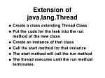 extension of java lang thread