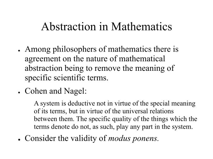 Abstraction in Mathematics