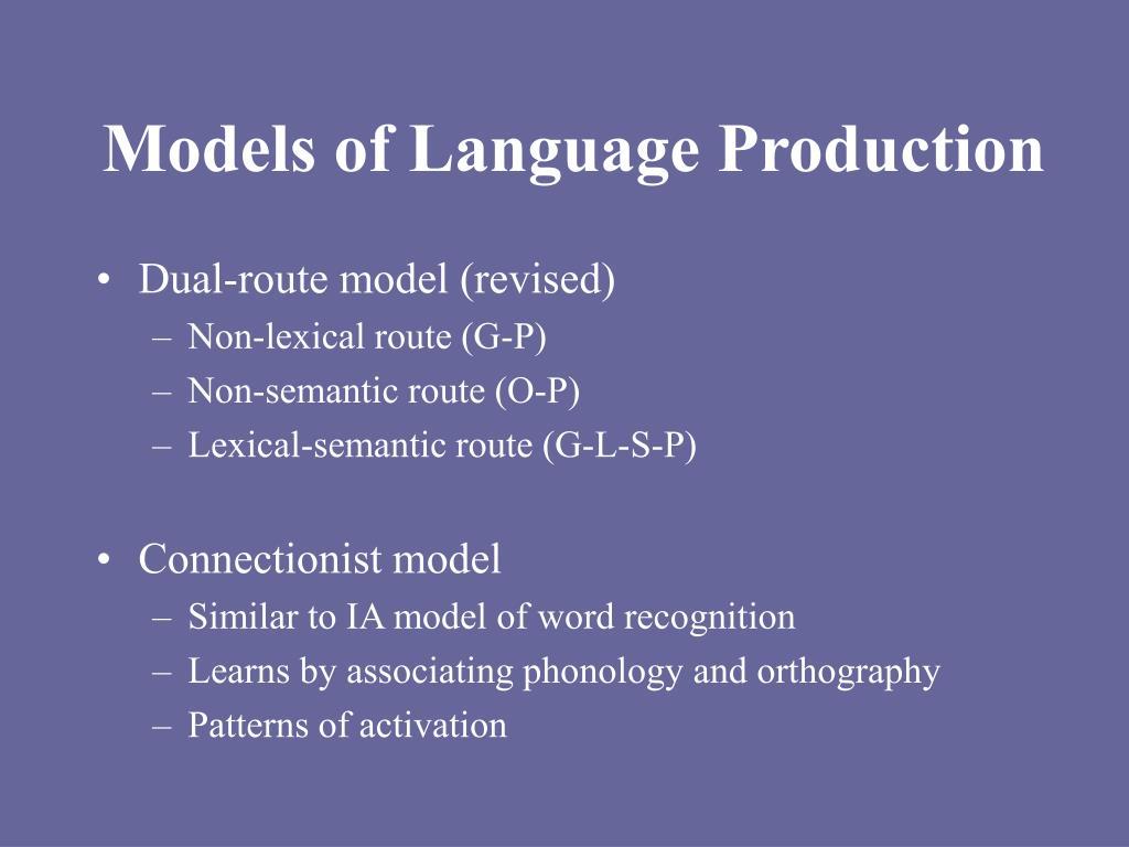 Models of Language Production