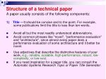 structure of a technical paper