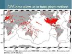 gps data allow us to track plate motions