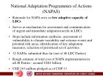 national adaptation programmes of actions napas