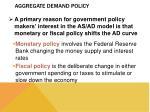 aggregate demand policy