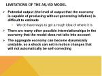 limitations of the as ad model1