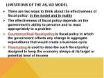 limitations of the as ad model2