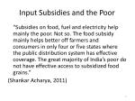 input subsidies and the poor