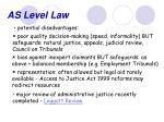 as level law8