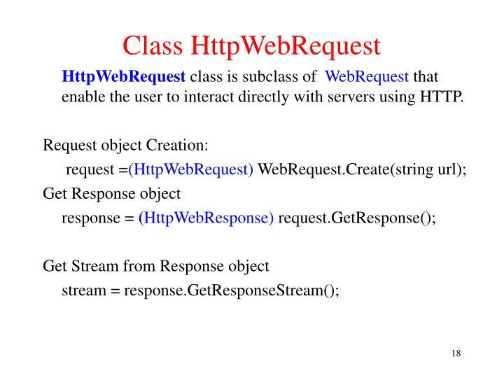 Class HttpWebRequest
