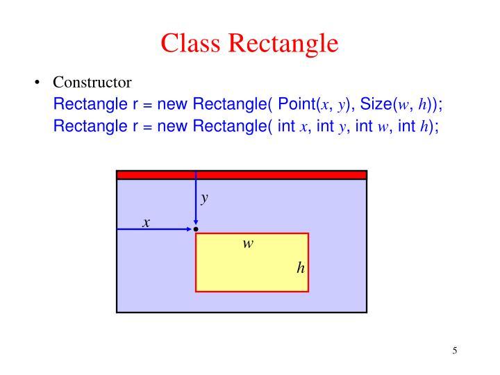 Class Rectangle