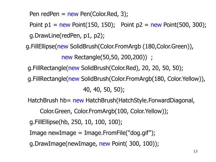 Pen redPen =