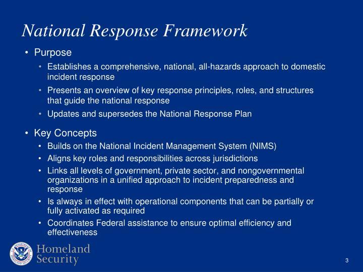 Ppt National Response Framework Powerpoint Presentation